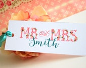 Wedding favor Book Mark - Personalized bookmark - Print your Own - Budget friendly wedding favor - Bookmark Favors