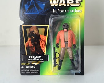 Kenner Star Wars Figure, Ponda Baba with Blaster - Star Wars Cantina Alien from A New Hope - 90's Star Wars Action Figure, Ready to Gift