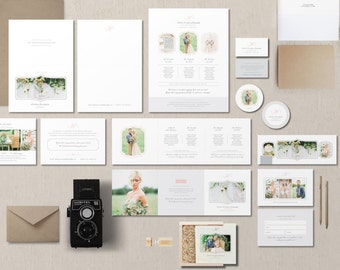 INSTANT DOWNLOAD! Photographer Marketing Set - Business Cards - Pricing Guides - Wedding Planner Templates - Photography Branding