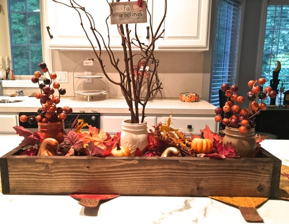 Items similar to fall centerpiece table decor planter