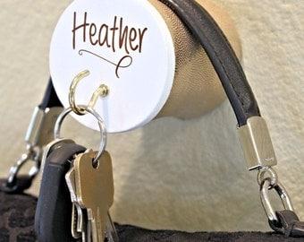 Cushion Purse Hook Purse Hanger for Keys Christmas Gift for Her Personalized Name Handbag holder Gold Key Hook, No more Cracked Handles