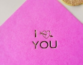 Napkins hot stamped for valentines day - set of 25