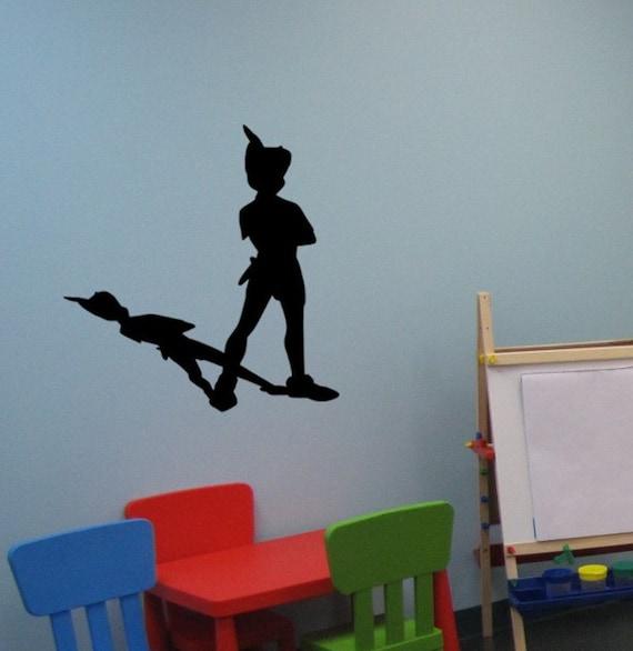 peter pan wall decal never land sticker peter pan decor. Black Bedroom Furniture Sets. Home Design Ideas