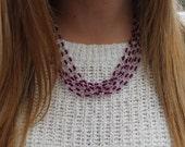 Viola, Purple Beaded Statement Necklace.