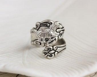 Zebra Spoon Ring