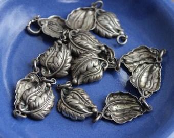 Danecraft Sterling Silver Leaf Necklace Choker VINTAGE by Plantdreaming
