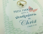 Press Forward 2016 mutual theme - Gold  or silver arrow adjustable ring - Young Women's handout gift  YW girls camp  New Beginnings gift
