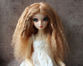 Beautiful Light Auburn mohair wig for Minifee / MSD