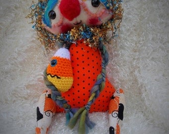 Handmade Art Doll (Kal) Ratty Tatty Monster
