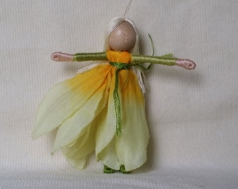 Flower Fairy Doll - Gold and yellow