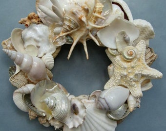White Shell Wreath-SW79