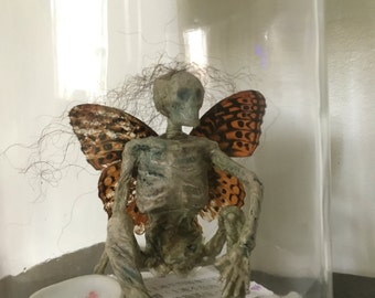 Mummified Fairy Specimen Jar- Sideshow Curiosity Halloween Decoration