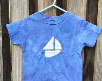 Kids Boat Shirt, Kids Sailboat Shirt, Toddler Sailboat Shirt, Blue Sailboat Shirt, Blue Boat Shirt, Boys Boat Shirt, Girls Boat Shirt (2T)