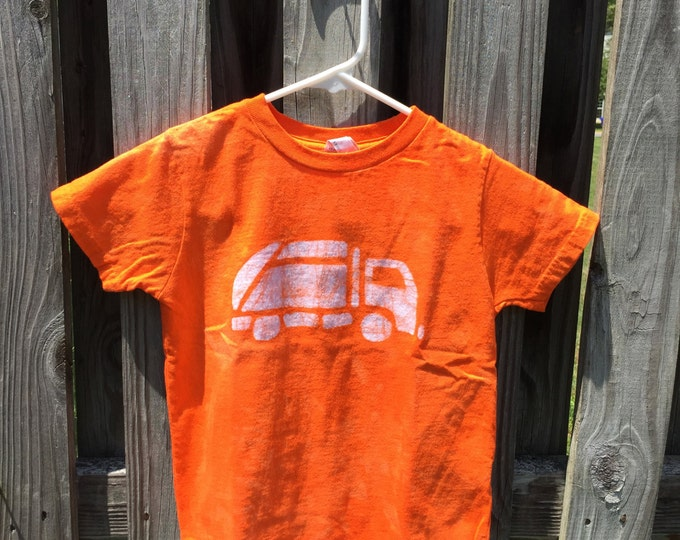 Garbage Truck Shirt, Kids Truck Shirt, Boys Garbage Truck Shirt, Orange Truck Shirt, Girls Truck Shirt, Boys Truck Shirt (4/5)