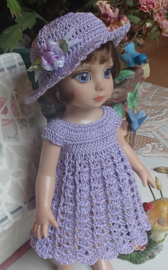 PDF PATTERN Crochet 10 inch Tonner Ann Estelle Patsy Doll Dress Empire ...