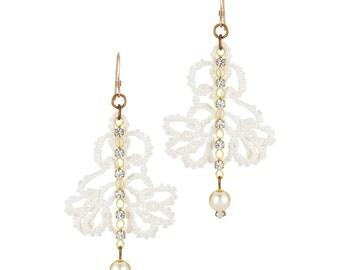 Crocheted Lace Earring   E1580