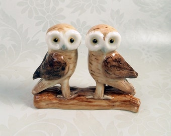 Rustic Wedding cake topper, Greek Owl hand crafted Australian pottery by Anita Reay Woodland wedding Australian cake topper