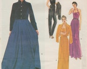 Vintage Designer Sewing Pattern By Edith Head / Vogue 2336 / Jacket Dress Gown Jumpsuit / Size 14 Bust 36