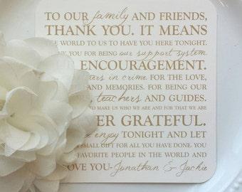 Printed Wedding Reception Thank You Card | Wedding Thank You Card | Thank You Card | Thank You - Style TY1 - OCTAVIA  COLLECTION