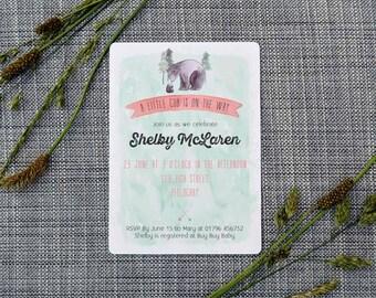 Printable Custom Bear Baby Shower Invitation