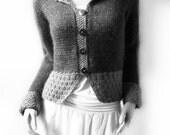 Damen geknöpft Cardigan Strick Pullover Jacke Farbe Strickwaren maßgeschneiderte Form Strickjacke