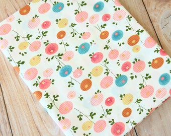 Candy Flowers floral pattern print cotton fabric quarter