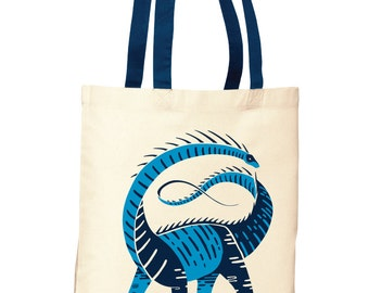 Dinosaur Screenprint Tote Bags