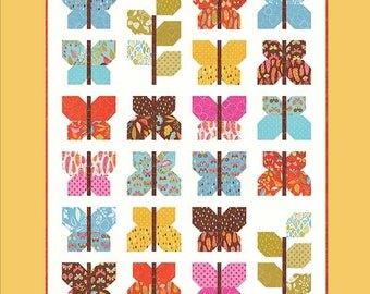 Wing and Leaf Butterfly Quilt Pattern ~ Gina Martin Sewing ~ Layer Cake Friendly Pattern ~ Throw Quilt ~ Baby Quilt Pattern