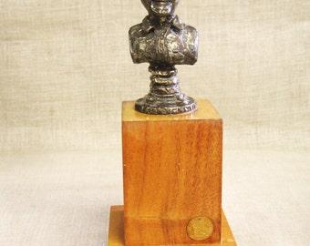Male Bust , Leo Blackman , Self Portrait , Bronze , Statue , Male Portrait , Mid-Century , Bronze Bust , Bronze Sculpture , Cast Bronze ,Art