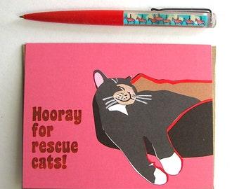Rescue Cat Card
