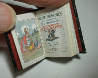 Miniature Book The Story of Peter Rabbit OOAK Handmade Christmas Stocking Series Complete with Pictures