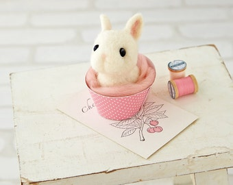DIY handmade Wool felt Kit Rabbit --- Japanese kit package H441-452