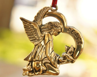 Gorham Silverplated Peace Angel Ornament
