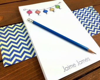 Paper Lantern Notepad, Personalized Note pads, Chinese Lantern, Paper Lantern Lights, Paper Lanters Magnetic Notepad, Cute Notepad-5.5 x 8.5