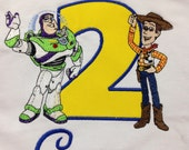 Toy Story Birthday Shirt, Buzz and Woody