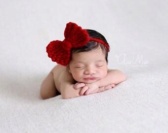 Newborn photo prop, newborn bow headband, newborn bows, newborn girl, newborn headband, newborn props, newborn tieback,newborn girl prop