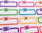 Camera/Photography Quarter Boxes - Rainbow - printed kiss cut stickers for your planner or calendar - full sheet - MATTE - GRCS