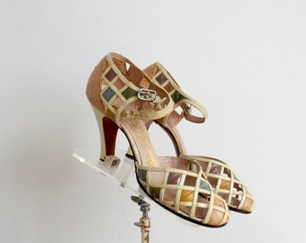 Vintage 1930s Shoes - 30s High Heels - The Isadora