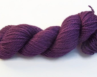 hand dyed DK 100% wool worsted  yarn