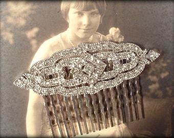 Bridal Hair Comb, Art Deco Wedding