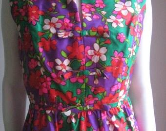 Vintage 60s silk dress