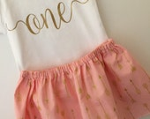 One Birthday Outfit; Baby Girl First Birthday Outfit; Babies first birthday; first birthday dress