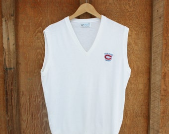 Vintage Montreal Canadiens Sweater Vest - Made in Canada -