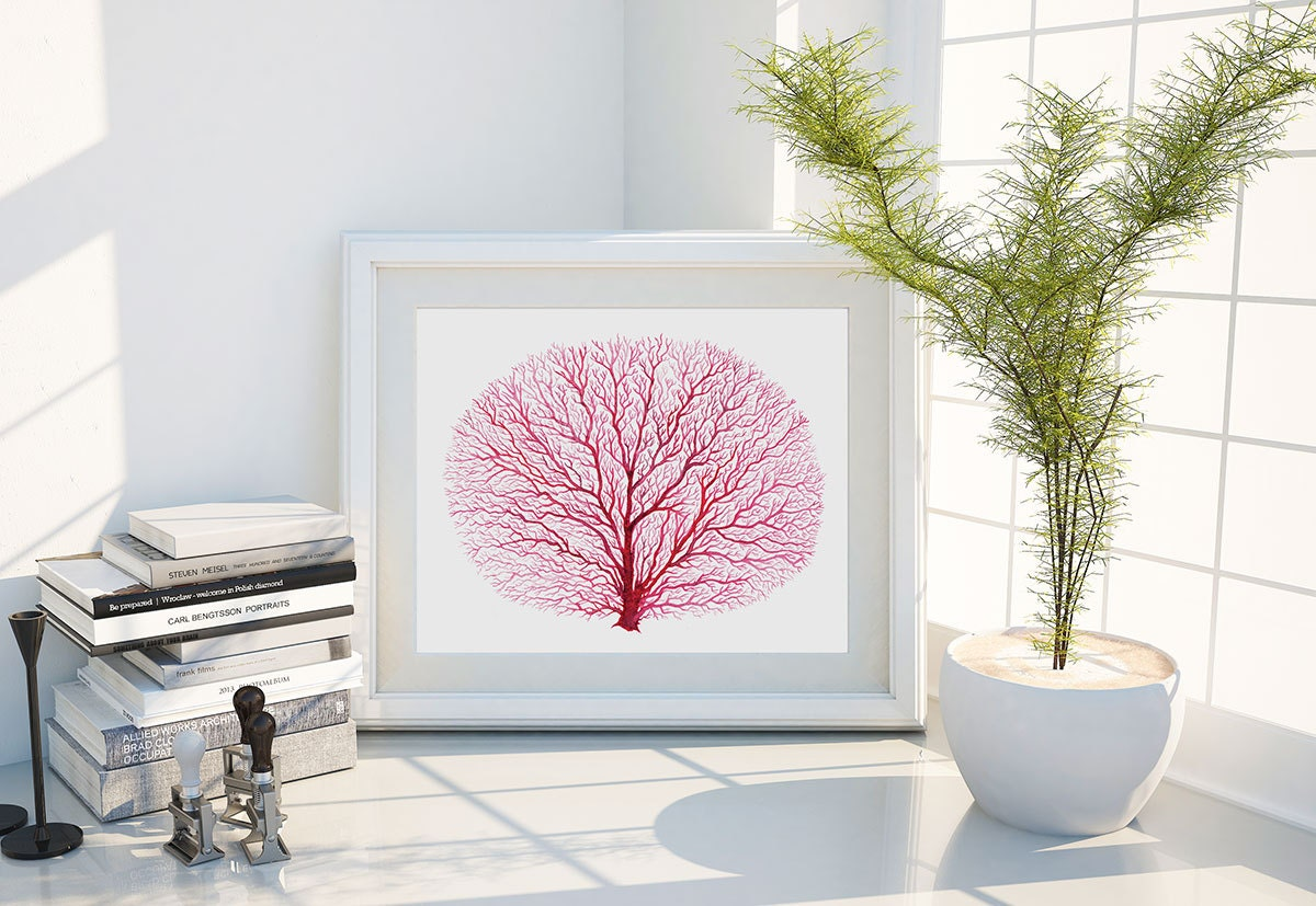 Red coral painting popular red coral print buy cheap red coral print -  Zoom