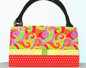 Swirls and polka dots Magnetic Bag Shell Cover