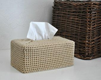 Modern Tissue Box Cover Nursery Decoration Tan Home Decor Kleenex Box Cover