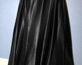 Ralph Lauren Black Maxi Skirt.  Ralph Lauren Satin Skirt with Velvet Waist. Black Formal Evening Maxi Skirt.  Medium Maxi Skirt.
