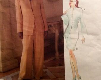 LAUREN SARA Vogue American Designer Sewing Pattern Jacket Top Skirt pants 1995 Size 6-8-10 Uncut
