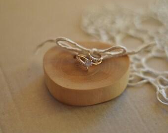 ring bearer pillow • birch wood ring bearer pillow for wedding decor