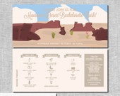 Arizona Desert Bachelorette Invitation with Itinerary - Personalized Printable File or Print Package - Grab Your Boots and Hat #00042-PI10